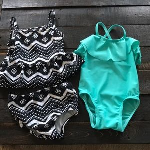 18 month girls swimsuits worn a few times each